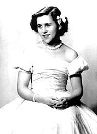 Spargelstecher Fasnacht Prinzessin 1954 - Christa I.