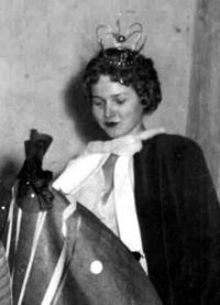Spargelstecher Fasnacht Prinzessin 1955 - Ursula I.