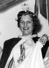 Spargelstecher Fasnacht Prinzessin 1956 - Traudl I.
