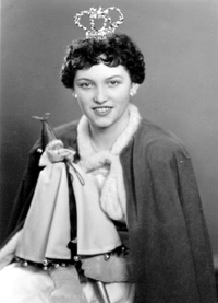 Spargelstecher Fasnacht Prinzessin 1957 - Doris I.