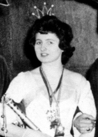 Spargelstecher Fasnacht Prinzessin 1958 - Renate I.