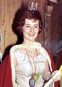 Spargelstecher Fasnacht Prinzessin 1962 - Rosemarie I.