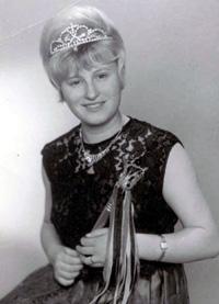 Spargelstecher Fasnacht Prinzessin 1966 - Christiane I.
