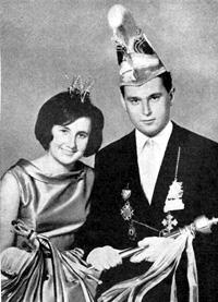 Spargelstecher Fasnacht Prinz und Prinzessin 1967 - Brigitte I. u. Hubert I.