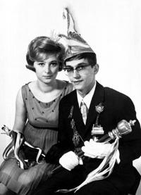 Spargelstecher Fasnacht Prinz und Prinzessin 1968 - Gerlinde I. u. Claus I.