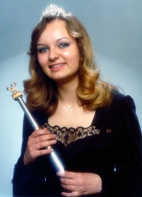 Spargelstecher Fasnacht Prinzessin 1976 - Gabriele I.