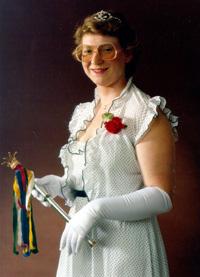 Spargelstecher Fasnacht Prinzessin 1983 - Elvira I.