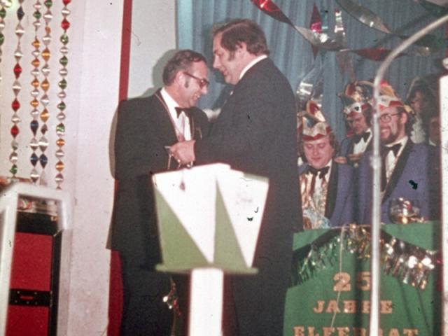 Spargelstecher -1976 - Ordensfest Albert Weiß, Rudi Zorn